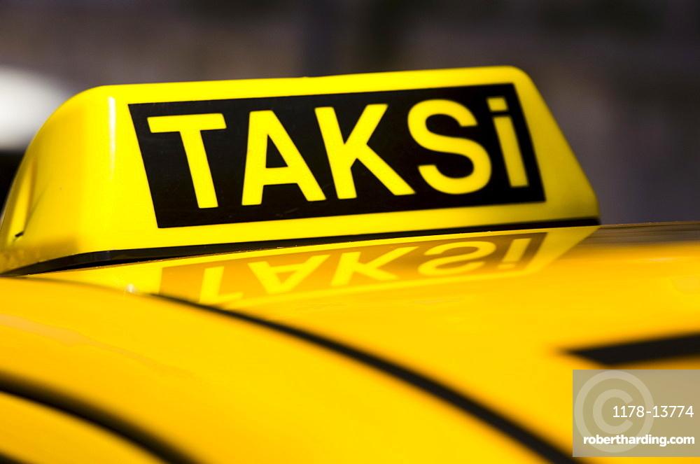 Turkey, Istanbul, Yellow taxi