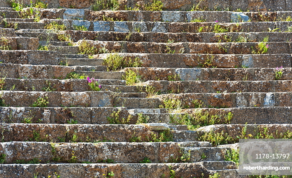 Turkey, Ephesus, Roman amphitheatre steps
