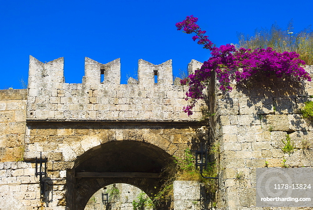 Greece, Rhodes, Medieval fortified wall