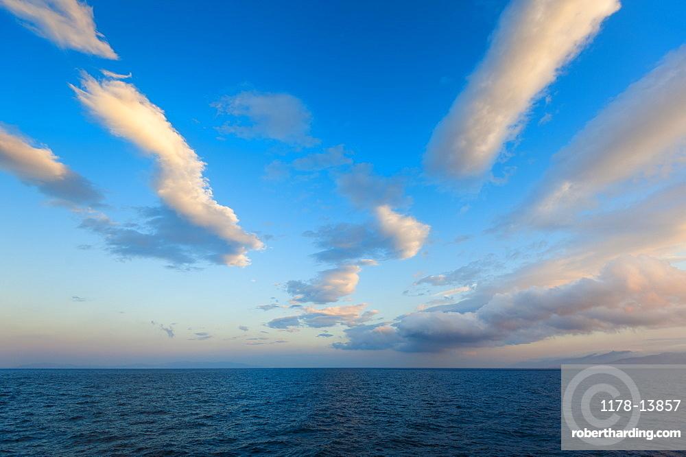 Greece, Clouds over Aegean Sea