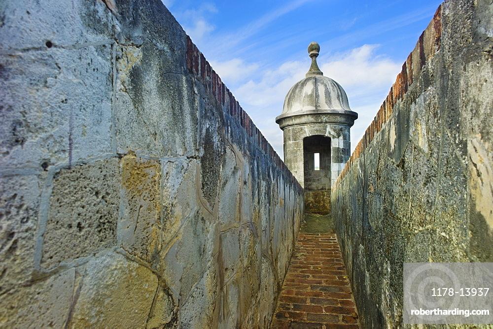 Puerto Rico, Old San Juan, El Morro Fortress, Sentry post