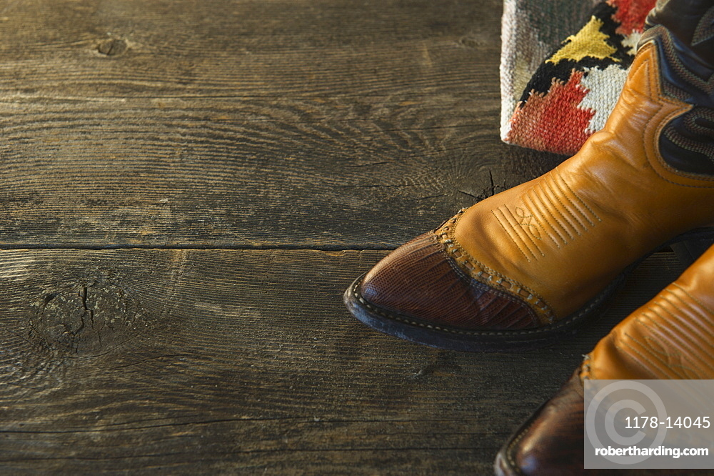 Close-up of cowboy shoes