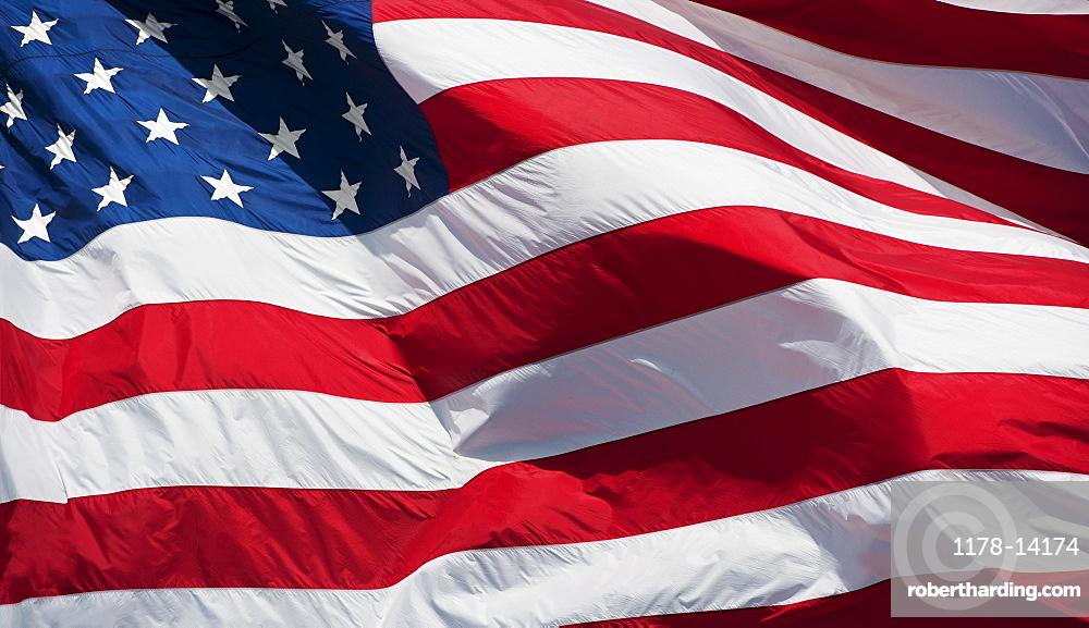 USA, South Dakota, Close-up of American flag