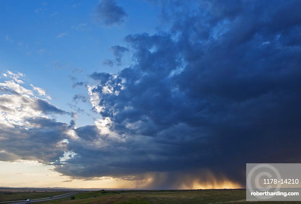 Cloudscape over field