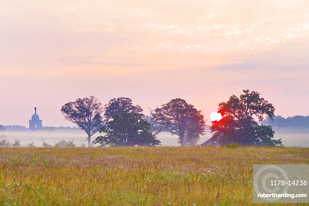 Sunset at Gettysburg National Military Park