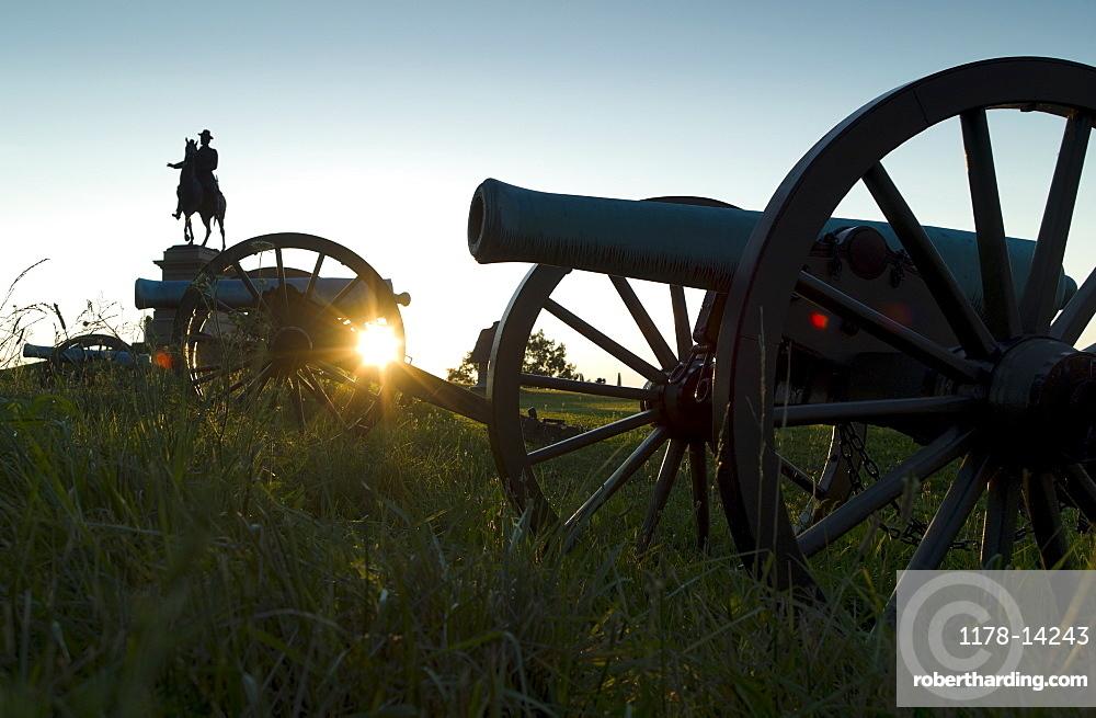 Sunset at Gettysburg national military park