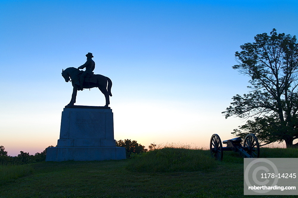 Statue of major general Oliver Howard on east cemetery hill