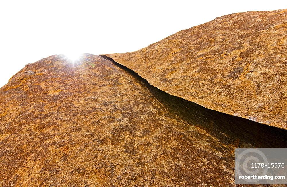 USA, California, Joshua Tree National Park, Sunlit rocks, USA, California, Joshua Tree National Park