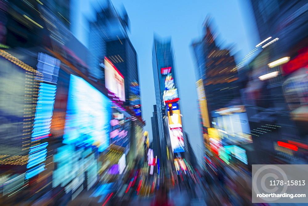 USA, New York, New York City, Times Square at night, USA, New York City