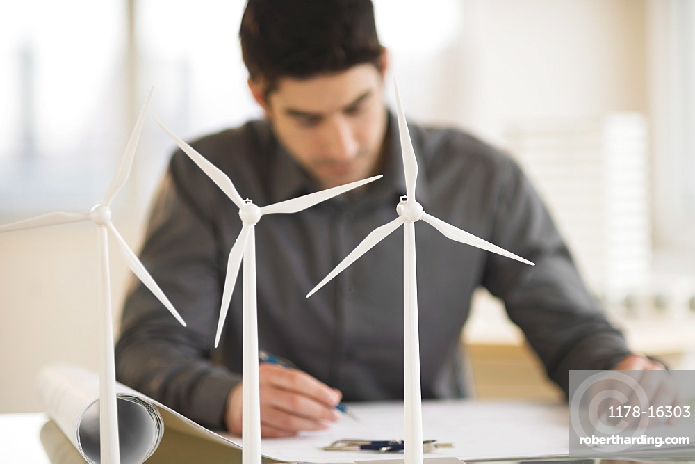 Architect working in firm dealing with wind power