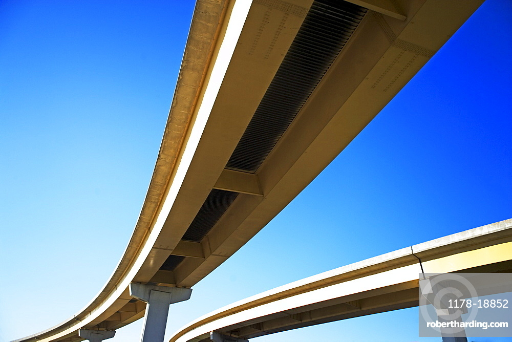 Low angle view of raised roadway