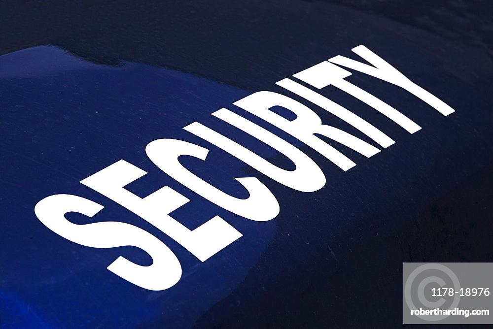 Close up of Security shirt