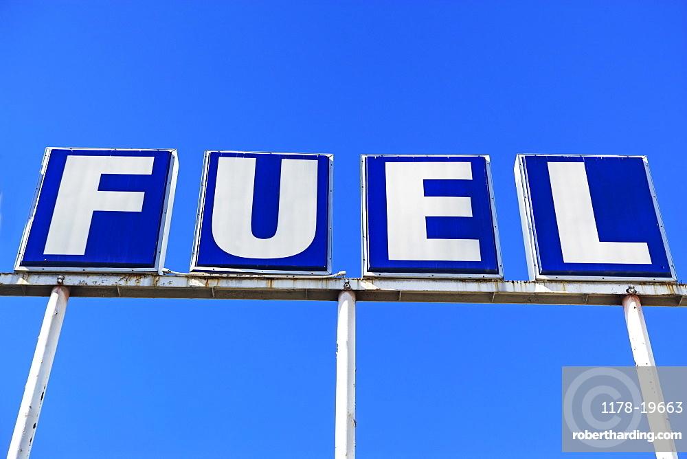 Fuel sign