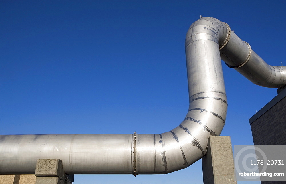 Pipes of water treatment plant