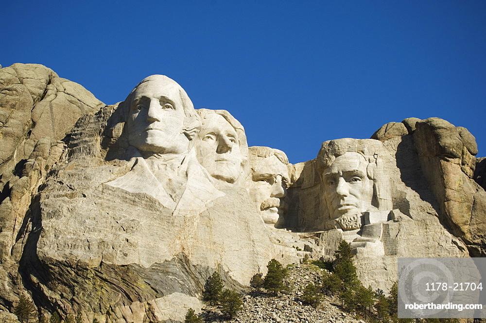 Low angle view of Mount Rushmore, Black Hills, South Dakota, United States