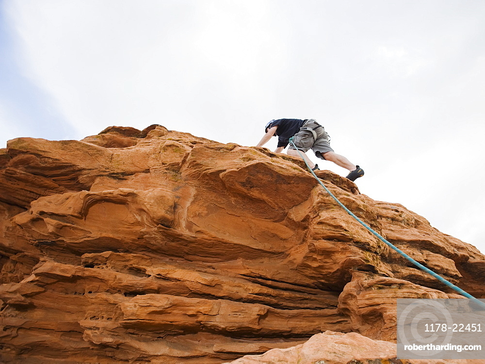 A rock climber at Red Rock