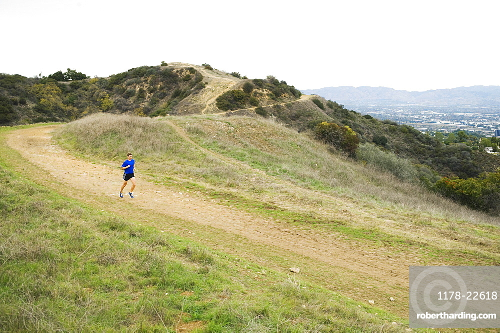 Person running on trail