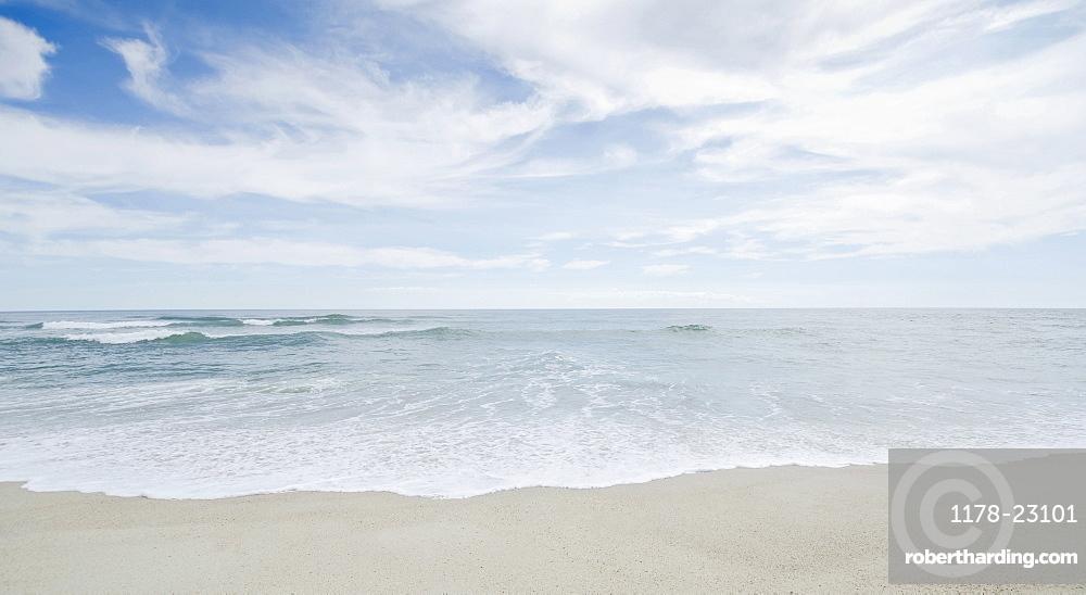 Seascape with surf on sandy beach, Nantucket, Massachusetts, USA