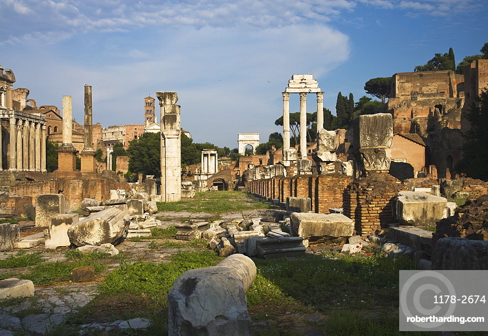 Ruins at the Roman Forum, Italy