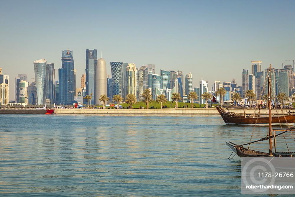 Skyscraper skyline in Doha, Qatar