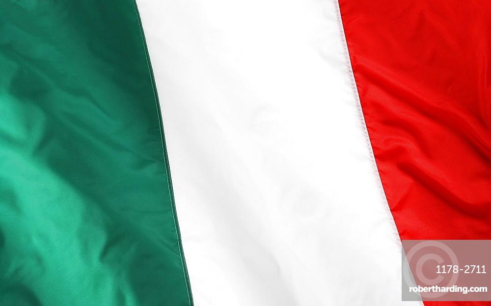 Close up of Italian flag