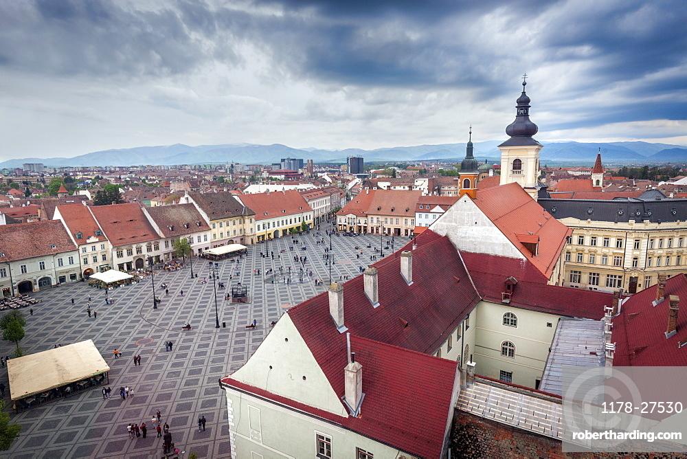 Grand Square in Sibiu, Romania