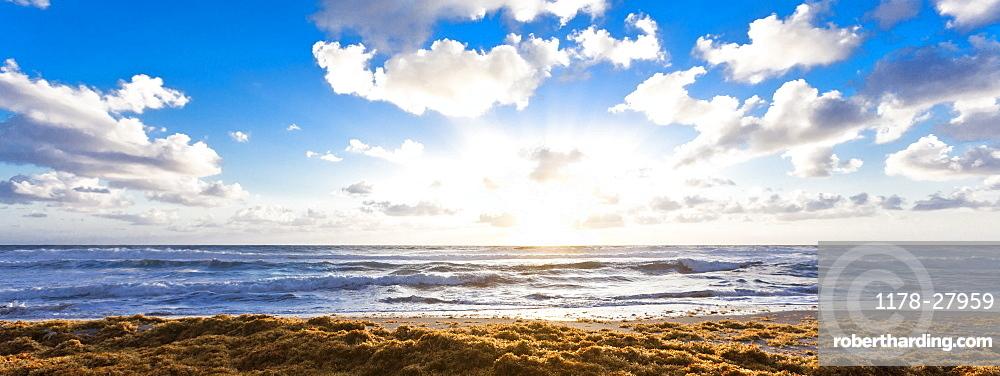 Beach under cloud