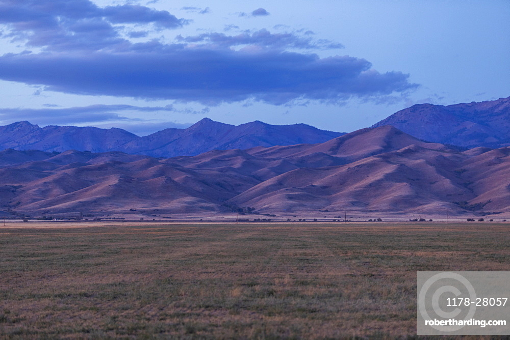Mountains under cloud in Fairfield, Idaho, United States of America
