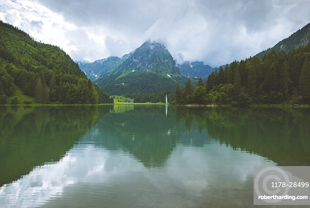 Lake and mountains in Obersee, Switzerland