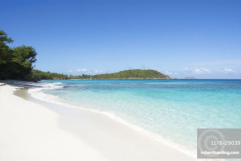 Beach at Hawksnest Bay in St. John, Virgin Islands
