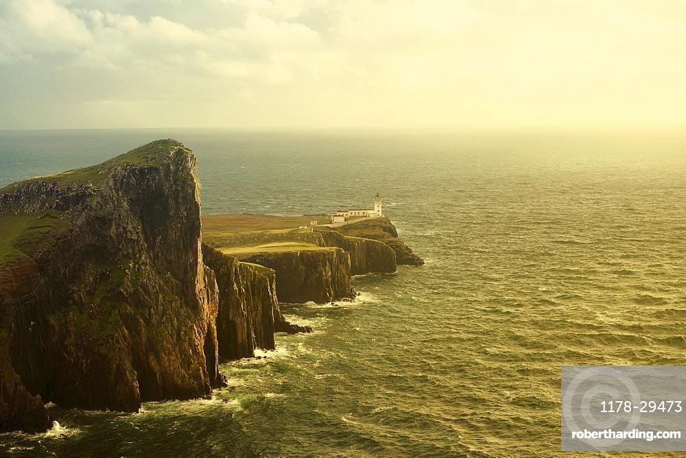 United Kingdom, England, Lighthouse on cliff