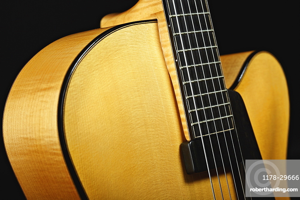 Close up of classical guitar
