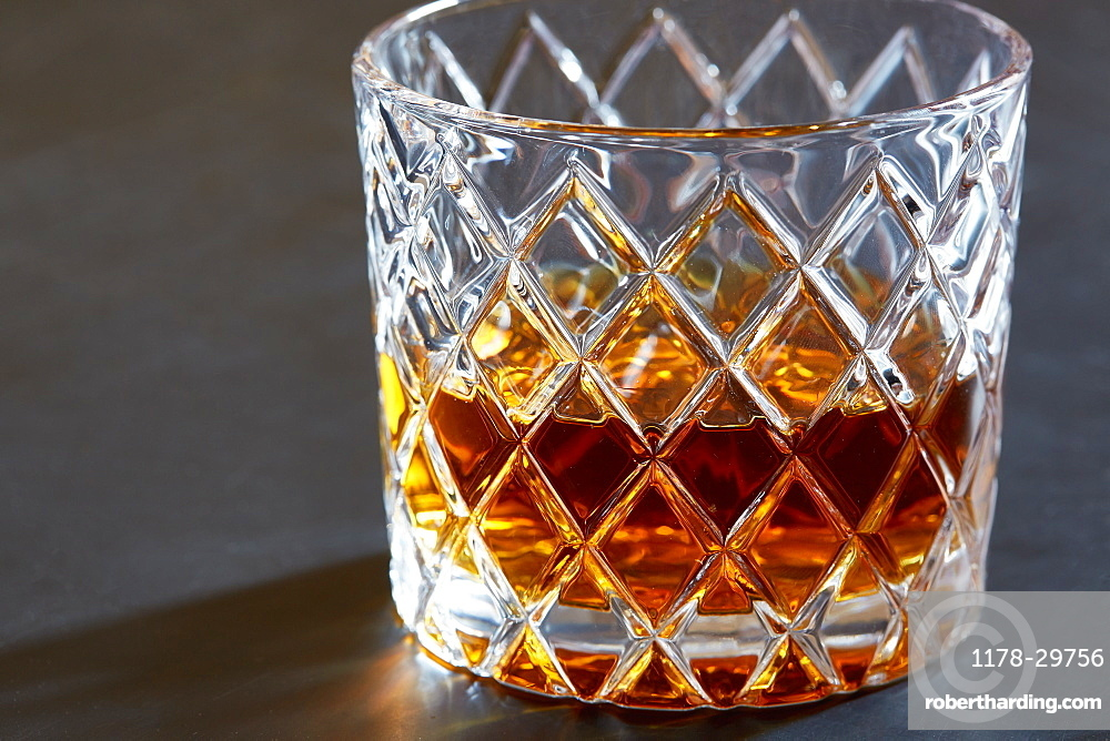 Whiskey in tumbler