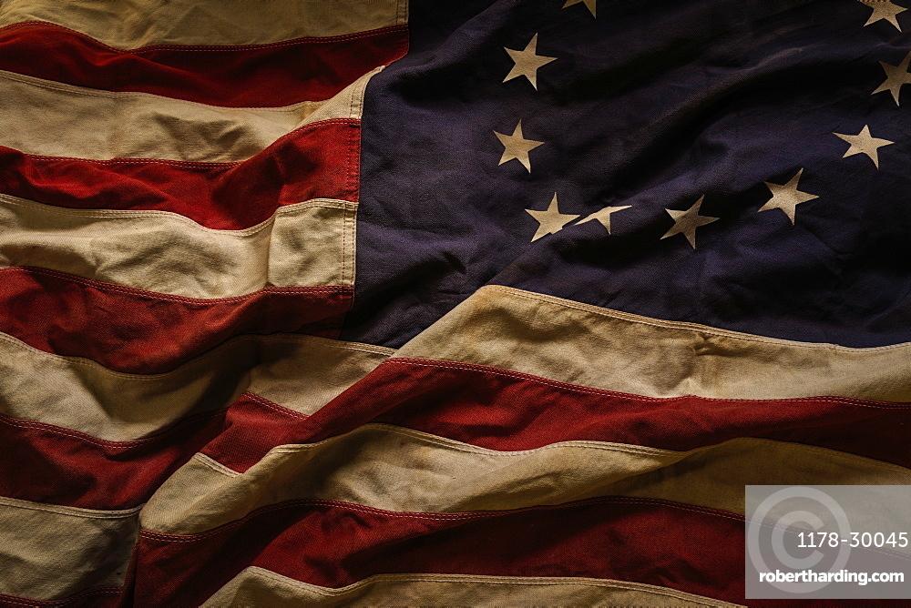 Studio shot of American flag