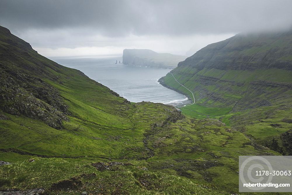 Denmark, Green coastline with cliffs