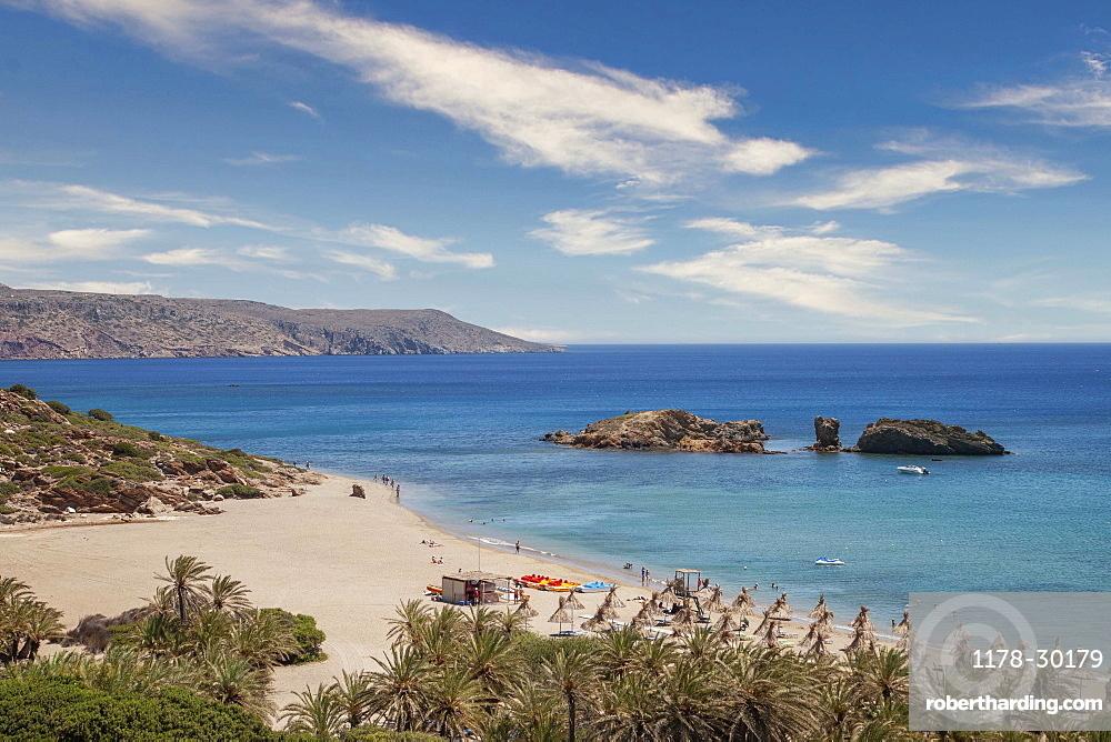 Greece, Crete, Vai, Beach and sea