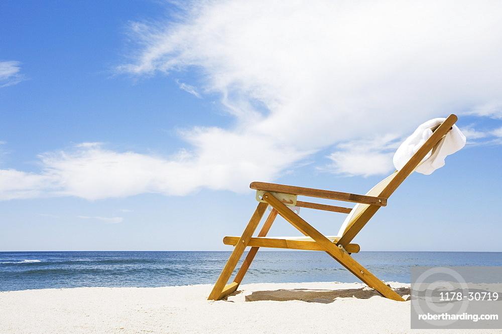 Outdoor chair on beach