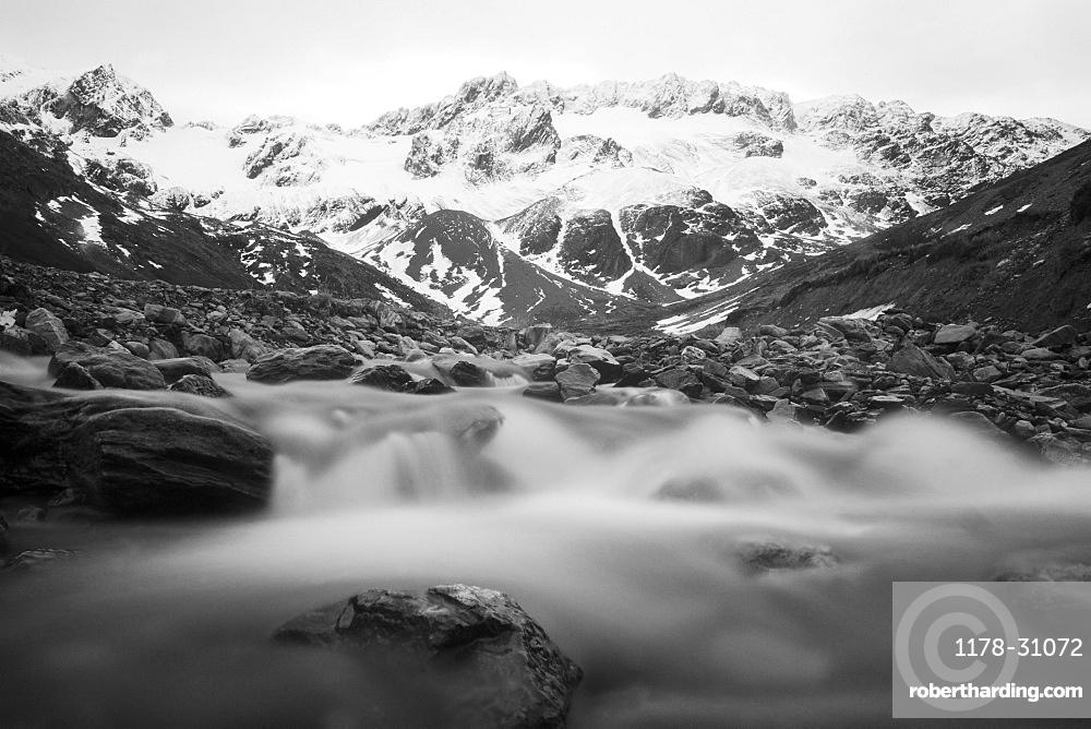 Martial mountain, glacial melt, Ushuaia, Tierra del Fuego, Argentina