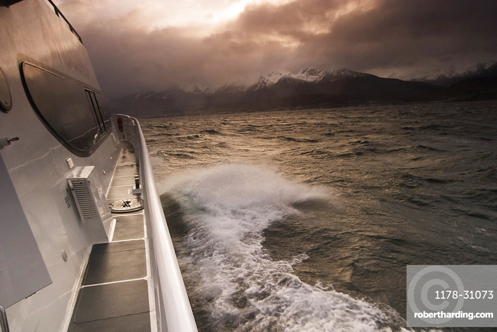 Cruise ship on the Beagle Channel, Ushuaia, Argentina