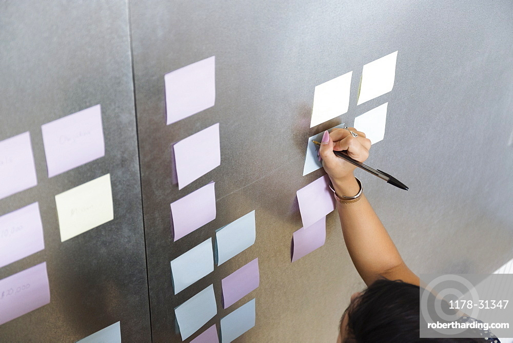 Person writing on notes Small Business, Start-up
