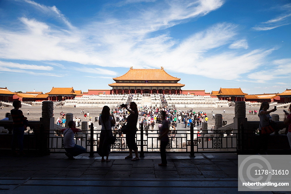 Tourists in Tiananman Square
