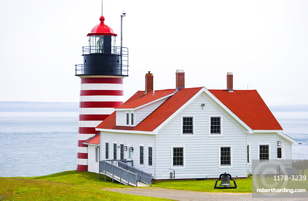 West Quoddy Head Lighthouse Lubec Maine