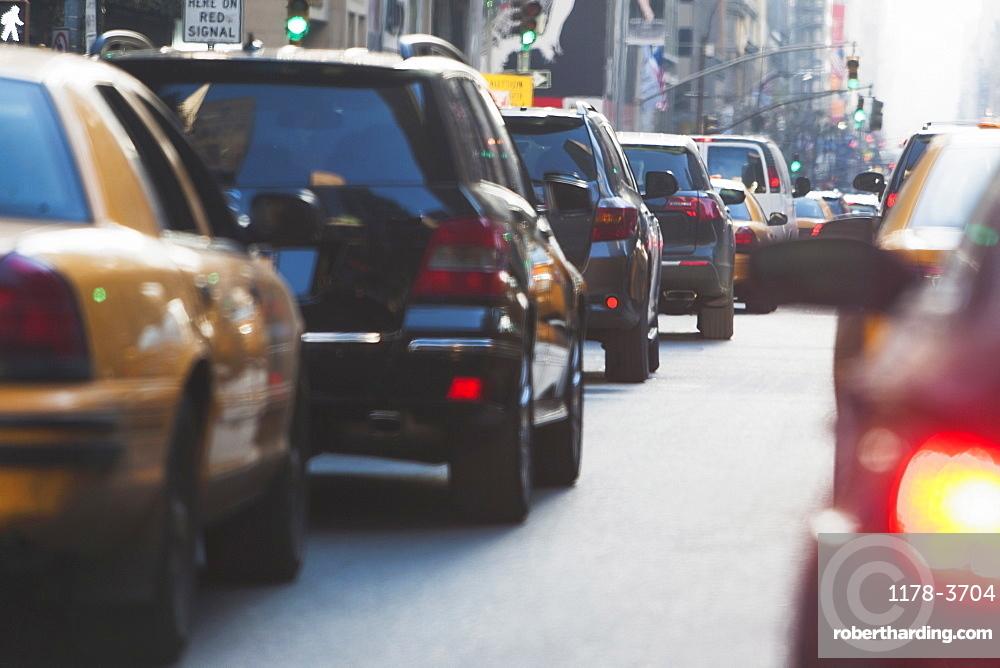 Street traffic, New York City, USA
