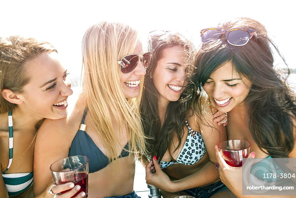 Portrait of young women having fun