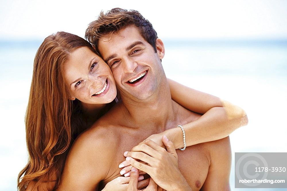 Couple enjoying summer holidays