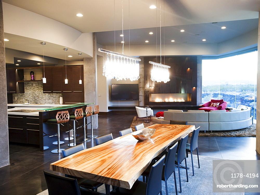 Modern living room interior, USA, Utah, St. George