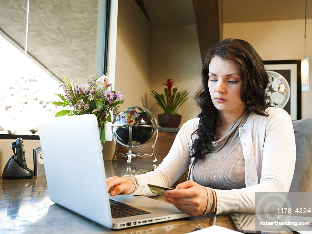 Woman working from home, USA, Utah, St George