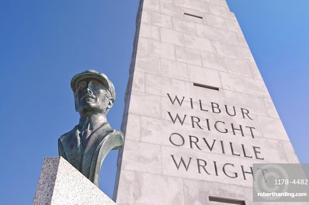 USA, North Carolina, Outer Banks, Kill Devil Hills, Wright Brothers Memorial