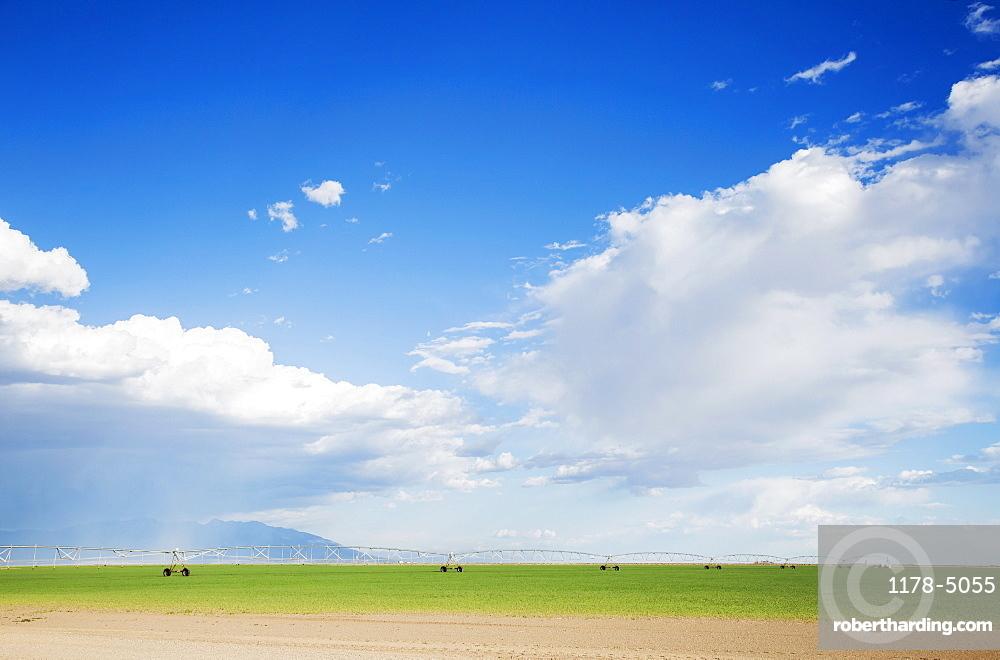 Irrigation system, Barley, Colorado, USA