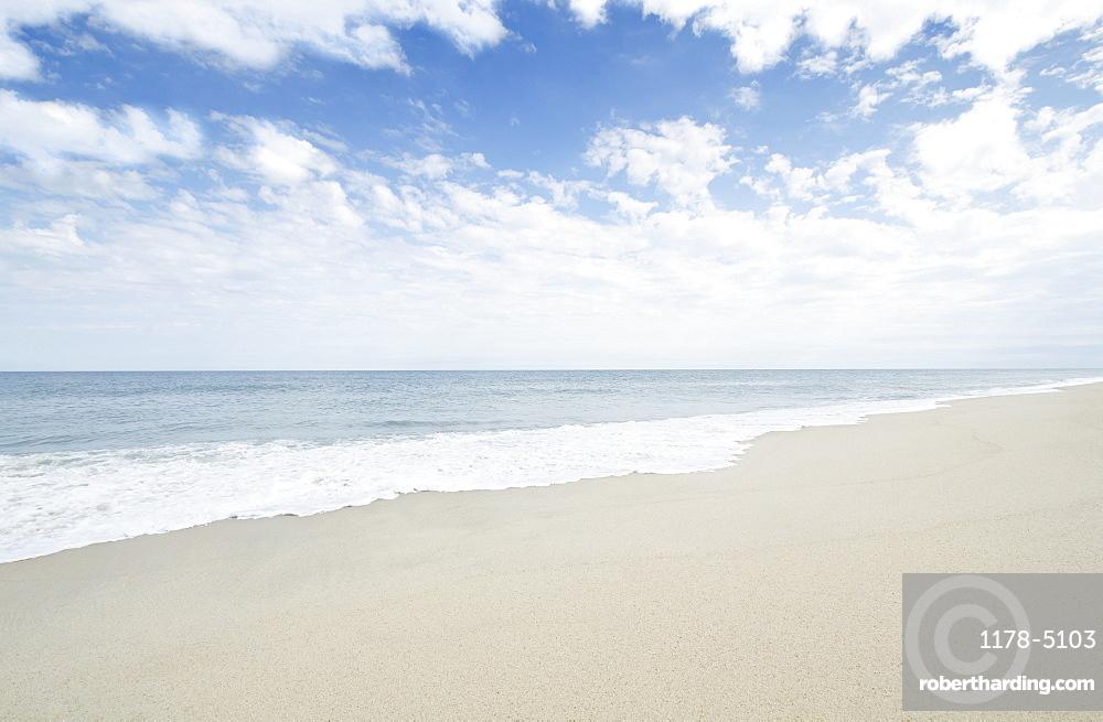 Empty sandy beach, USA, Massachusetts, Nantucket